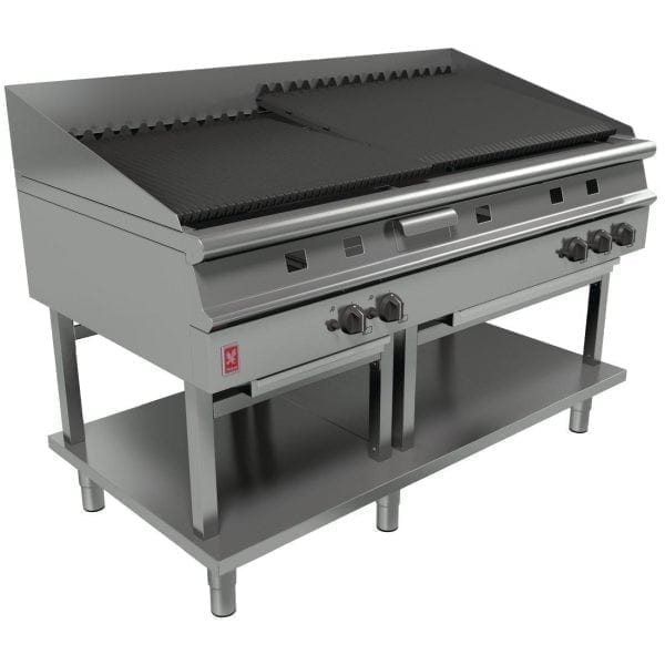 Falcon Dominator Plus 1500mm Wide Chargrill on Fixed Stand LPG (Direct)-0