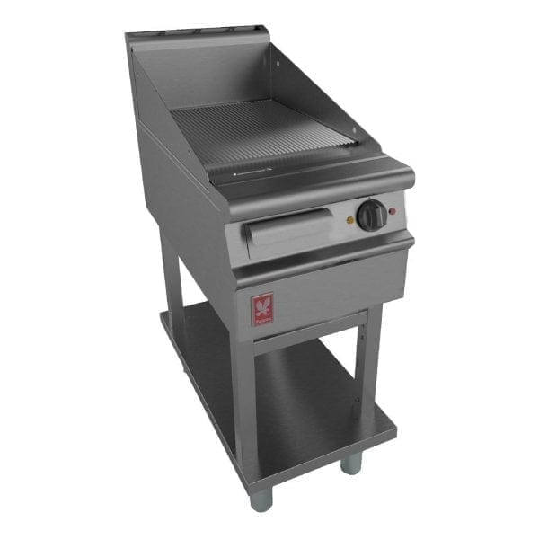 Falcon Dominator Plus 400mm Wide Ribbed Griddle on Fixed Stand (Direct)-0