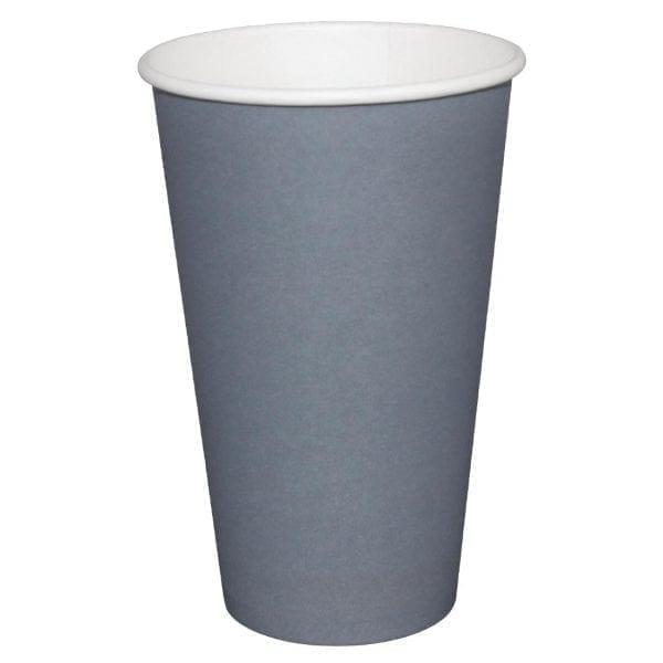Fiesta Hot Cups Single Wall Charcoal - 341ml (12oz) (Box 1000)-0