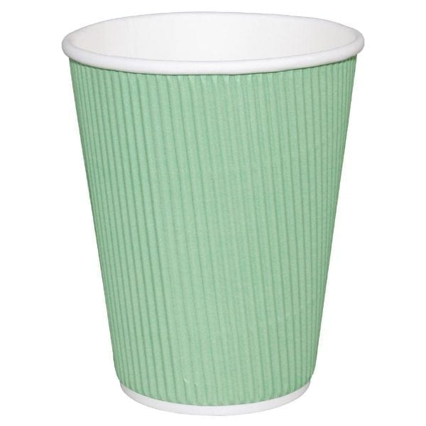 Fiesta Hot Cups Ripple Wall Aqua - 228ml (8oz) (Box 500)-0