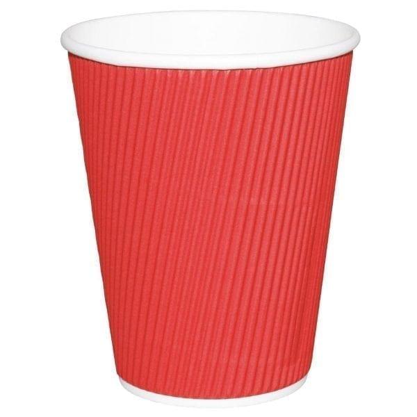 Fiesta Hot Cups Ripple Wall Red - 341ml (12oz) (Box 500)-0