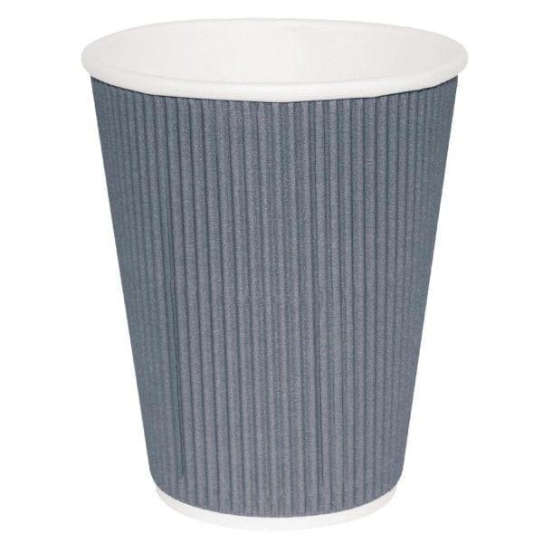 Fiesta Hot Cups Ripple Wall Charcoal - 228ml (8oz) (Box 500)-0