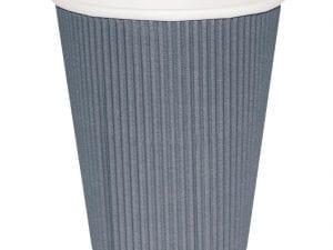 Fiesta Hot Cups Ripple Wall Charcoal - 341ml (12oz) (Box 500)