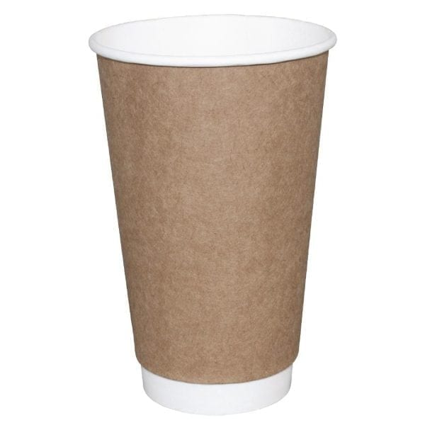 Fiesta Hot Cups Double Wall Kraft - 228ml (8oz) (Box 500)-0