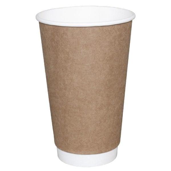 Fiesta Hot Cups Double Wall Kraft - 341ml (12oz) (Box 500)-0