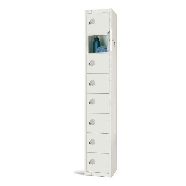 450mm Deep Locker 8 Door Padlock White (Direct)-0