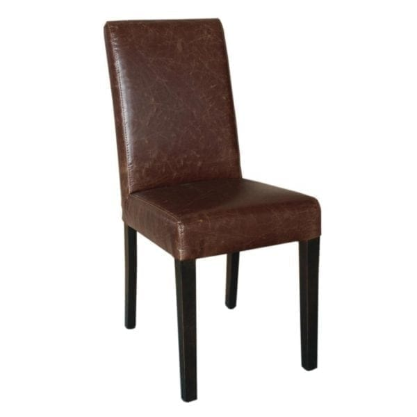 Bolero Faux Leather Dining Chair Antique Tan (Pack 2)-0