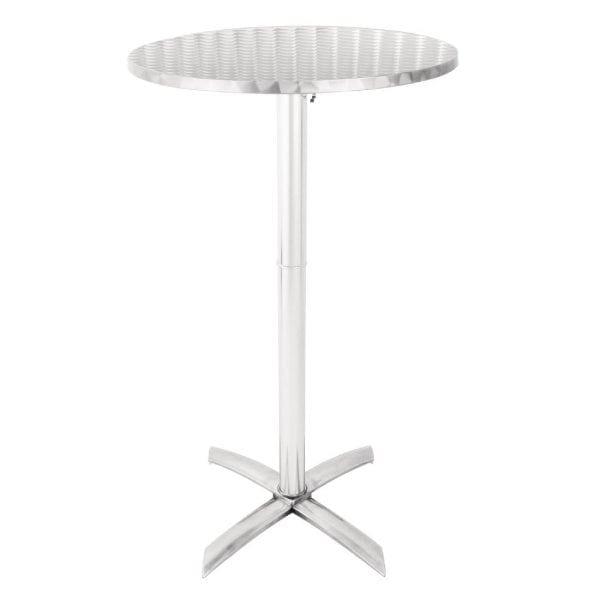 Bolero Flip Top Poseur Table St/St - 600mm dia-0