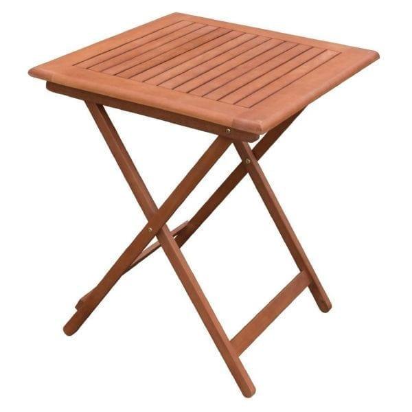 Bolero 600mm Square Wooden Folding Table (Direct)-0