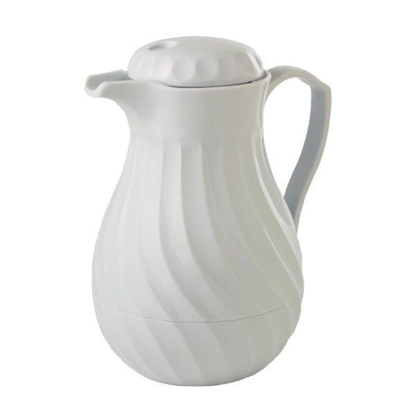 Connoisserve Insulated Swirl Jug White - 1.8Ltr 64oz-0