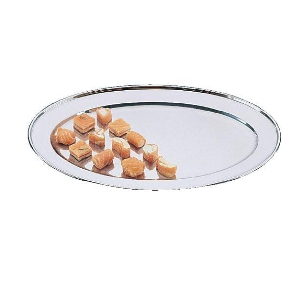 "Olympia Oval Serving Tray St/St - 407mm 16""-0"