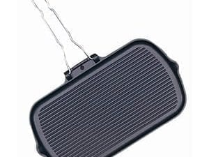 Vogue Grill Pan Cast Iron - 380x225x37mm-0