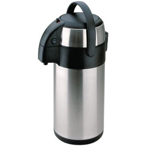 Olympia Pump Action Airpot St/St Double Wall - 3Ltr-0