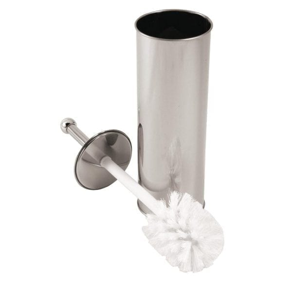 Toilet Brush & Holder Set - Stainless Steel