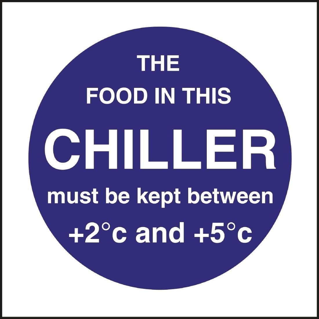 Chiller Display Temp Sign (Self-Adhesive)-0