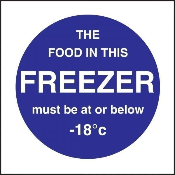 Freezer Temp Sign (Self-Adhesive)-0