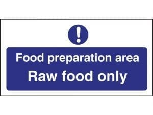 Food Prep Area Raw Food Only (Self-Adhesive)-0