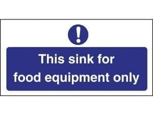 Sink For Food Equipment Only Sign (Self-Adhesive)-0