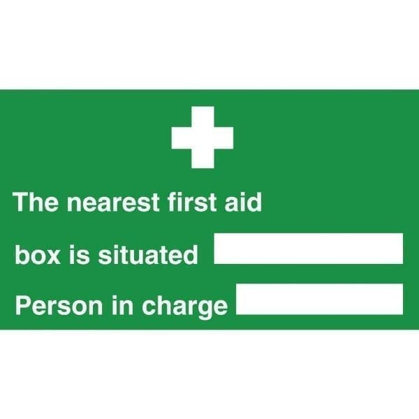 Nearest First Aid Person Sign (Self-Adhesive)-0