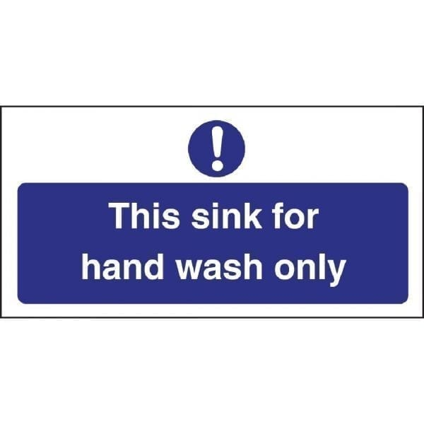 Hand Wash Only Sign - Single (Self-Adhesive)-0