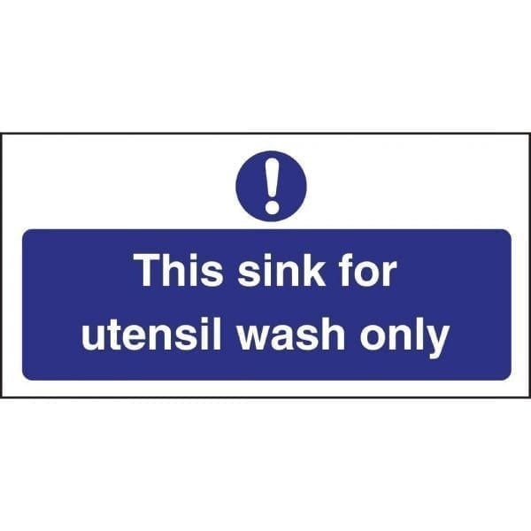 Utensil Wash Only Sign (Self-Adhesive)-0