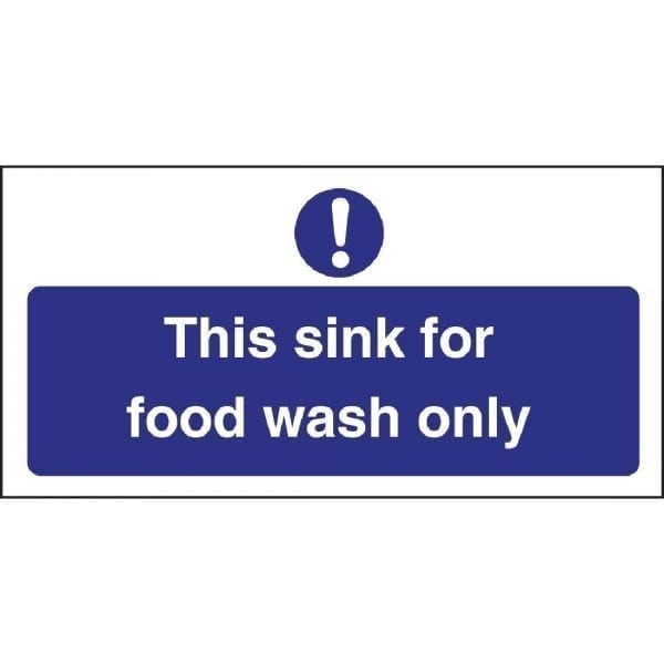 Food Wash Only Sign (Self-Adhesive)-0