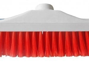 "Hygiene Brush Head 12"" - Stiff Bristle - Red"