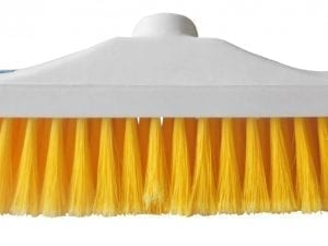 "Hygiene Brush Head 12"" - Stiff Bristle - Yellow"