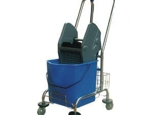 Deluxe Mop Wringer with Metal Cart