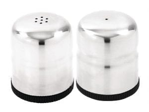 Mini Salt & Pepper Shaker Set Stainless Steel