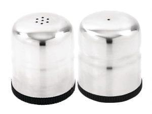 Mini Salt & Pepper Shaker Set Stainless Steel