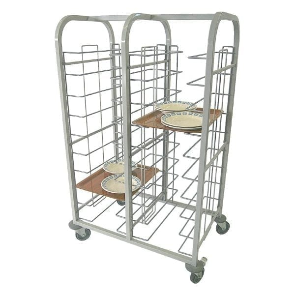 Tray Clearing Trolley - 10 level (20 trays) Fully Welded (Direct)-0