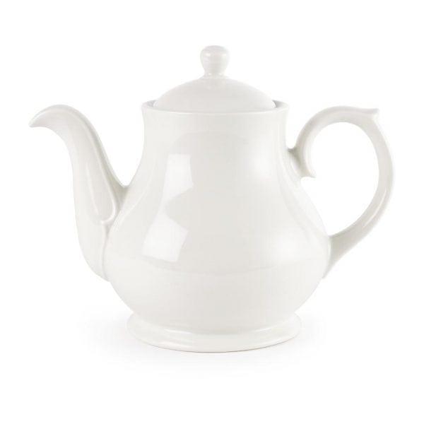 White Sandringham Tea/Coffee Pot 4cup 30oz (Box 4)-0