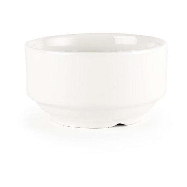 White Consomme Bowl Unhandled - 14oz (Box 24)-0