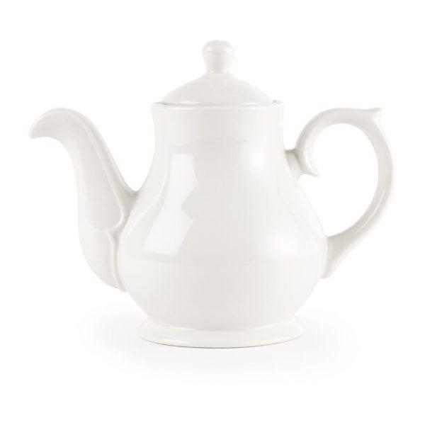 White Sandringham Tea/Coffee Pot 2cup 15oz (Box 4)-0