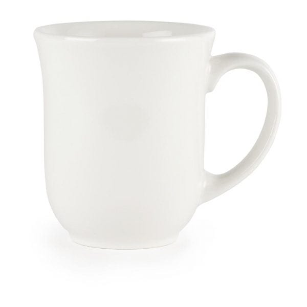 White Elegant Mug - 10oz (Box 24)-0