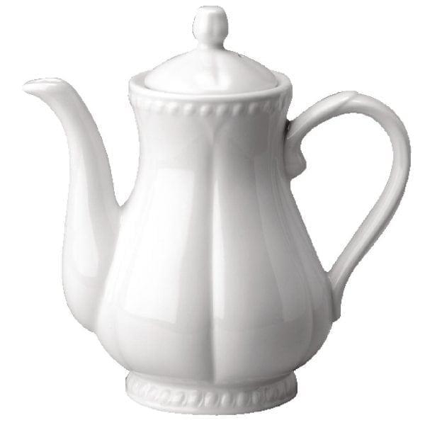 Buckingham White Coffee Pot - 1pint (Box 4)-0