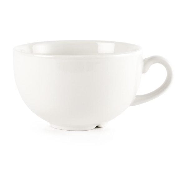 White Cappuccino Cup - 340ml 12oz (Box 24)-0