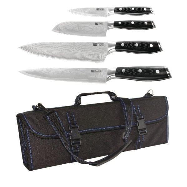 Tsuki Japanese 4 Piece Knife Kit-0