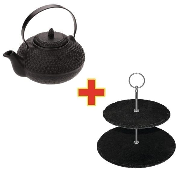 Contemporary Teapot & Cake Stand-0