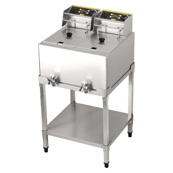 Buffalo 8Ltr Double Fryer 2 x 2.9kW with stand-0