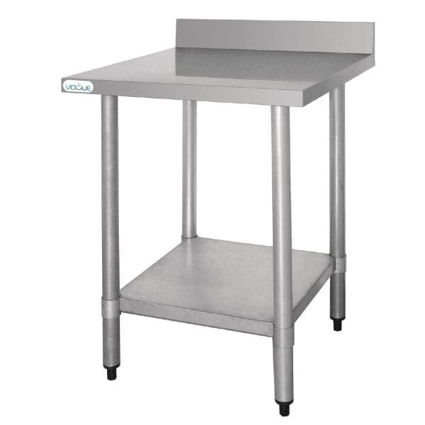 Vogue St/St Wall Table 60mm Upstand - 600x600mm-0