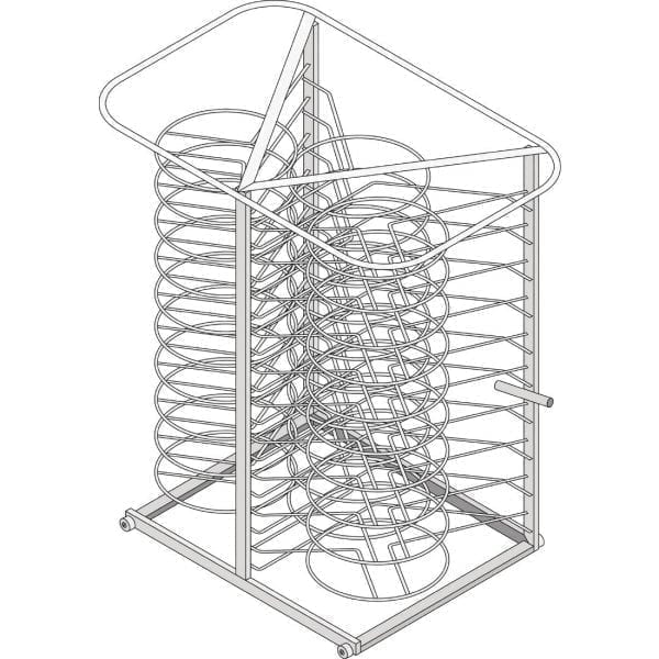 Rational Mobile Plate Rack 32 Plates Type 101 (Direct)-0