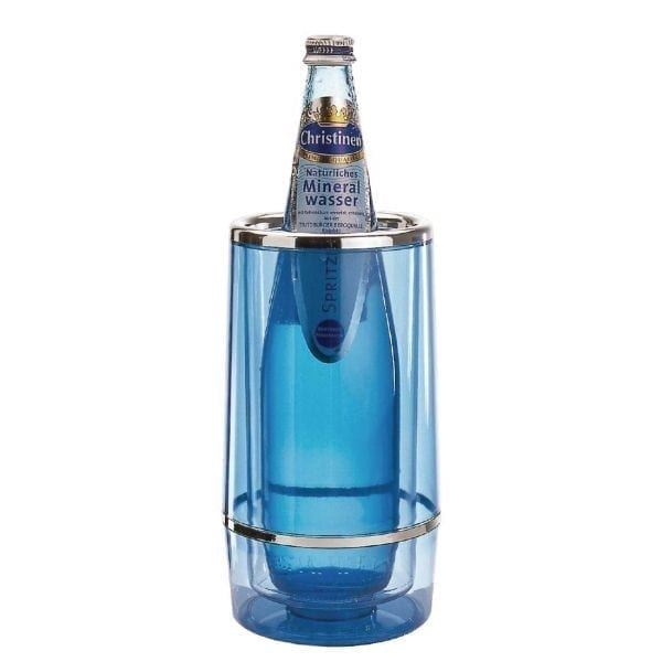 Clear Blue Acrylic Water Bottle Cooler-0