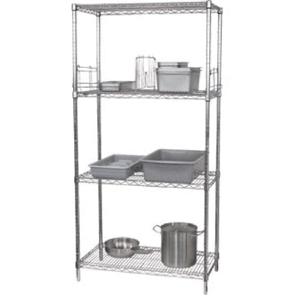 Vogue Flat Pack 4 Shelf Unit - 610x1220mm-0