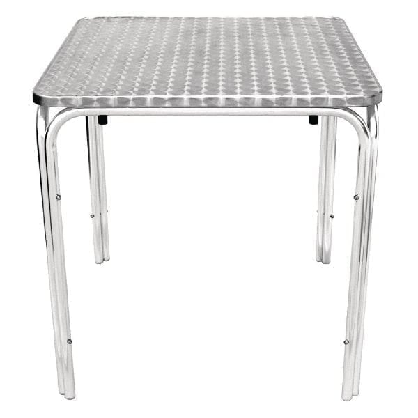 Bolero Square Stacking Bistro Table St/St Top - 700mm-0