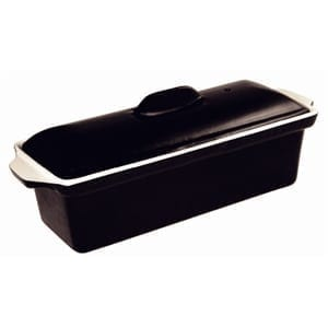 Vogue Pate Terrine Black - 1.3Ltr 90x310x100mm-0