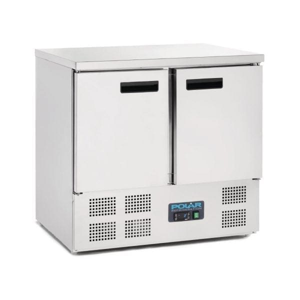 Polar 2 Door Flat St/St Top Counter (UK)-0