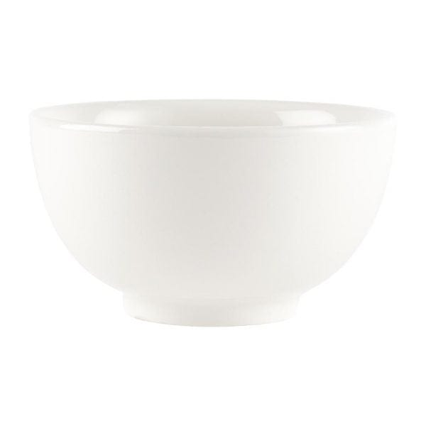"""White Large Footed Bowl - 145mm 5 1/2"""" (Box 6)-0"""