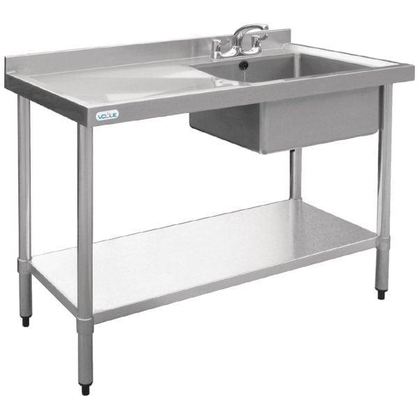 Vogue Single Bowl Sink L/H Drainer - 1000mm-0